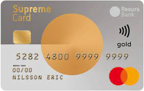 Lån op til  hos Supreme Card Gold
