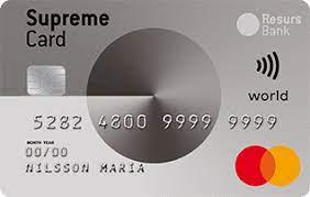 Lån op til  hos Supreme Card World